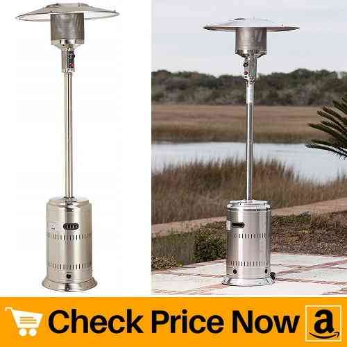 Fire Sense Patio Heater Unpainted Stainless Steel