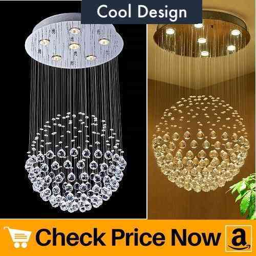 Saint Mossi Chandelier Modern K9 Crystal Raindrop Chandelier Lighting Flush mount LED Ceiling Light Fixture Pendant