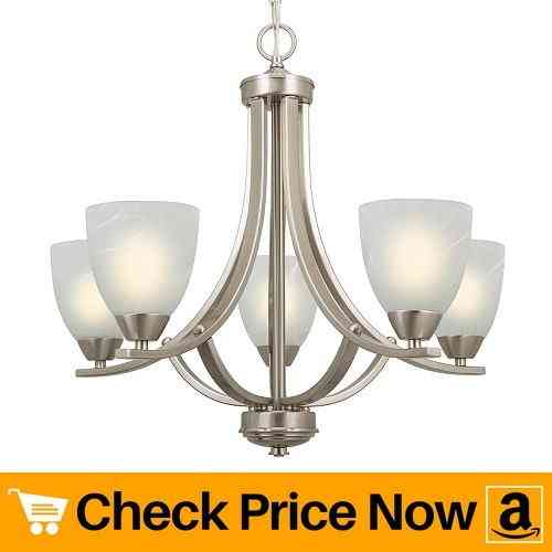 Kira Home Weston 24 Contemporary 5-Light Large Chandelier,