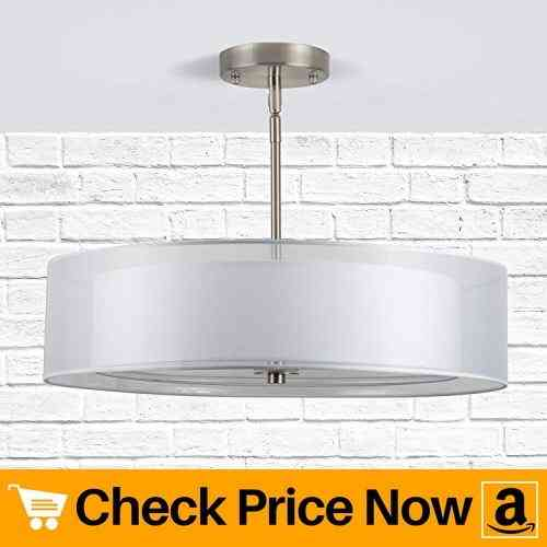 Linea di Liara Grazia 20 inch 3 Light Drum Chandelier Ceiling Light