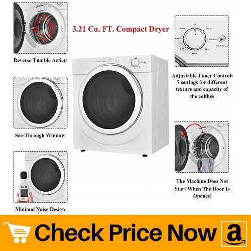 Costway Electric Tumble Dryer Compact