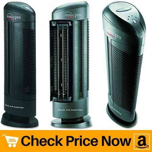 Envion Ionic Pro 90IP01TA01W Turbo Ionic Air Purifier, 500 sq ft Room Capacity, Black