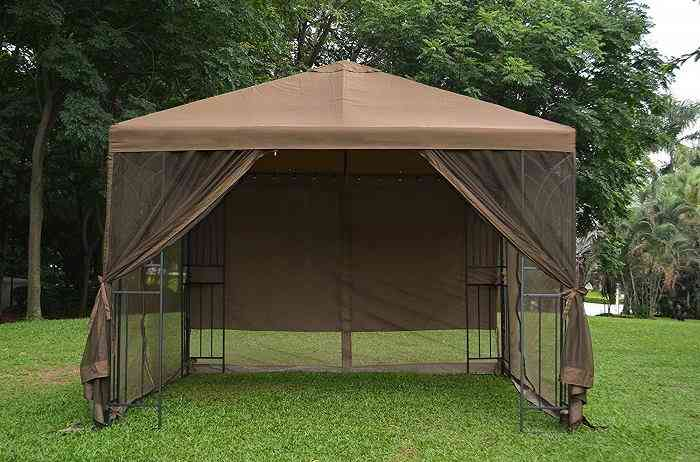 10x10 Gazebo With Mosquito Netting
