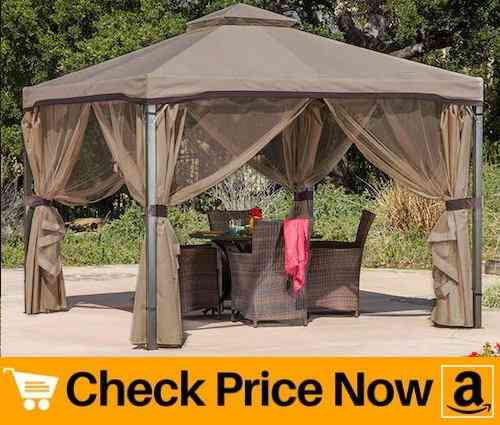 Christopher Knight 10 x 10 Canopy Gazebo with Mosquito Net