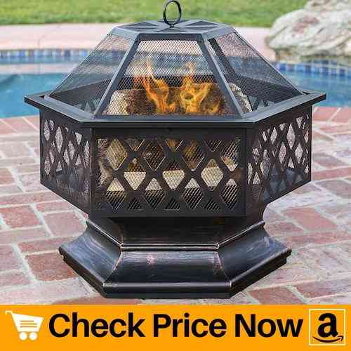 Best Choice Products Hex Shaped Fire Pit for Outdoor