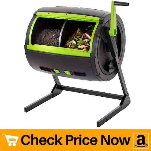 RSI MCT-MC Two Stage Compost Tumbler with Cart, Black