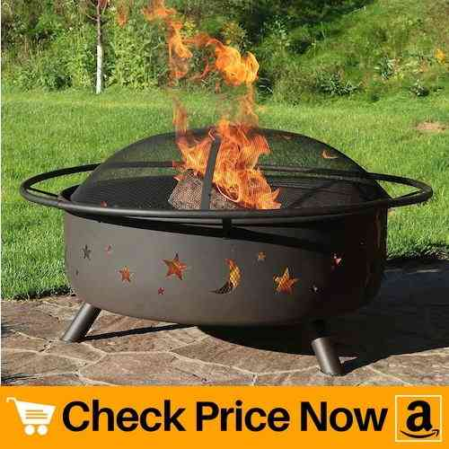 Sunnydaze 42 Inch Large Fire Pit with Spark Screen