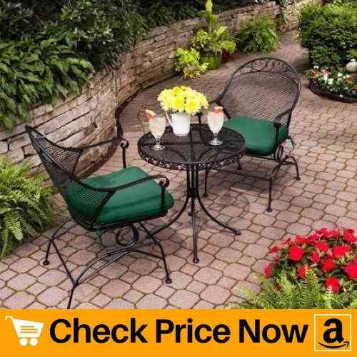 Clayton Court 3-Piece Motion Outdoor Bistro Set, Seats 2 - Best quality for a low price (Green)