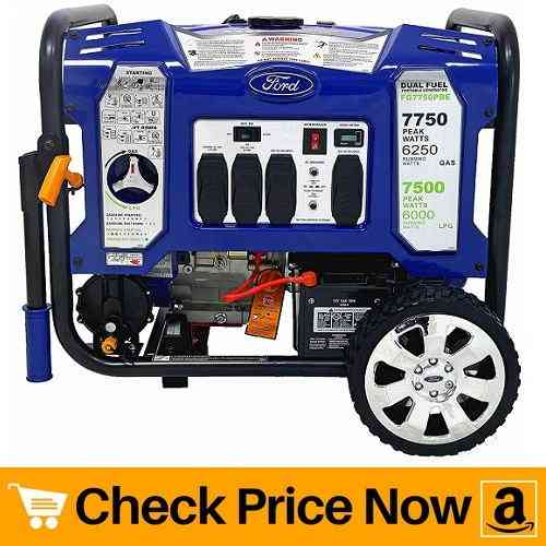 Ford 7,750W Dual Fuel Portable Generator