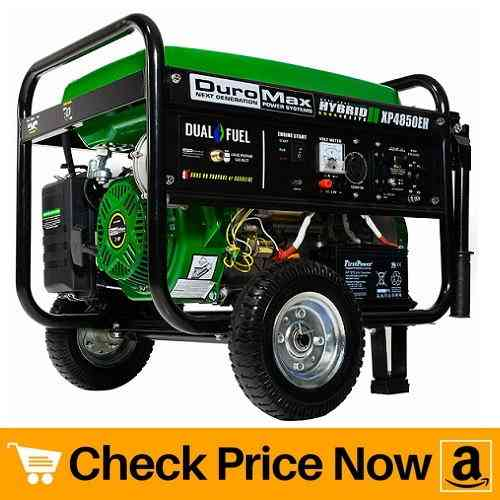 Duromax XP4850EH Dual Fuel Electric Start Portable Generator
