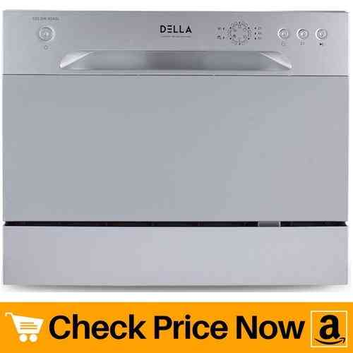 DELLA Compact Dishwasher Countertop Small Kitchen Portable Dishwashers