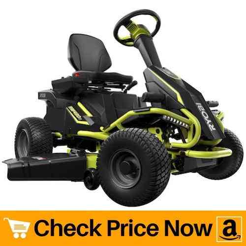 Ryobi Battery Electric Rear Engine Riding Lawn Mower