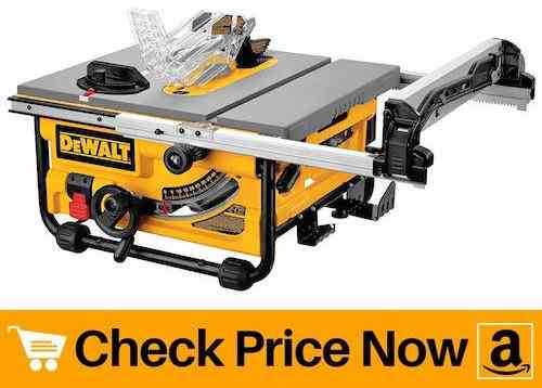 Best DEWALT DW745 Portable Compact Job-Site Table Saw