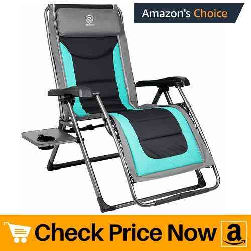 EVER ADVANCED Oversize XL Zero Gravity Recliner Padded Patio Lounger Chair Review