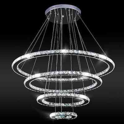 Crystal Modern LED Ceiling Fixtures Pendant Lighting