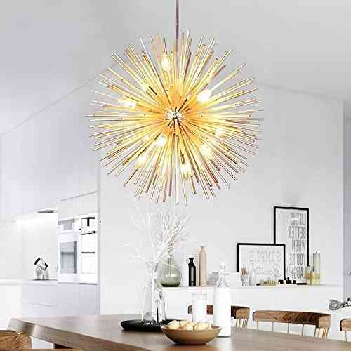 Golden Sputnik Chandelier Ceiling Light Lamp Pendant Lighting Fixture