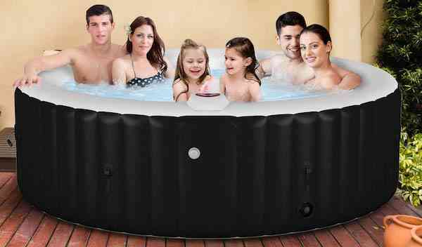 Goplus 4-6 Person Outdoor Spa Inflatable Hot Tub for Portable Jets Bubble Massage Relaxing with Accessories Set