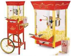Nostalgia CCP510 Vintage Professional Popcorn Cart New 8 Ounce Kettle-53 Inches Tall
