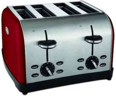 Oster 4-Slice Toaster, Metallic Red