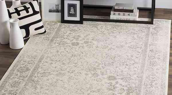Safavieh Adirondack Collection ADR109C Ivory and Silver Oriental Vintage Distressed Area Rug 9x12