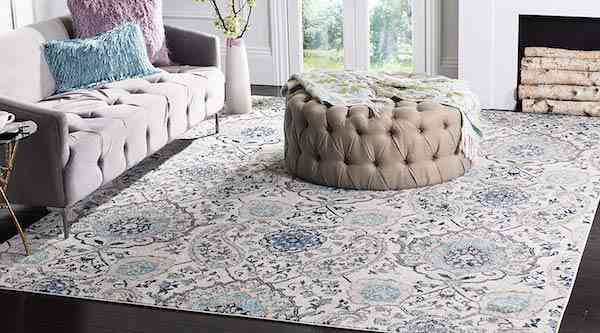 Safavieh Madison Collection MAD600C Cream and Light Grey Bohemian Chic Paisley Area Rug 9 x 12