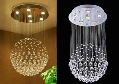 Saint Mossi Chandelier Modern K9 Crystal Raindrop Chandelier Lighting Flush mount LED Ceiling Light Fixture Pendant Lamp for Dining Room Bathroom Bedroom