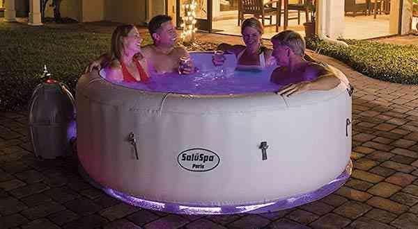 SaluSpa Paris AirJet Inflatable Hot Tub w: LED Light Show