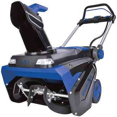 Snow Joe ION100V-21SB 21-Inch 100-Volt Max 5Ah Brushless Lithium-iON Cordless Snow Blower, Blue
