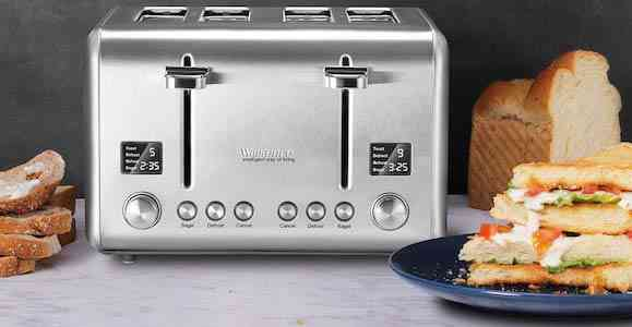 Toaster 4 Slice 1800W, Willsence Stainless Steel Bagel Toaster with Extra Wide Slots, 2 LCD Timer Displays with 9 Bread Shade Settings and 6 Pre-set review