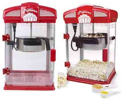 WEST BEND 82515 Hot Oil Theater Style Popcorn Popper Machine Offers Nonstick Kettle Fast and Durable with Easy Clean Up Up 4 Ounce, Red