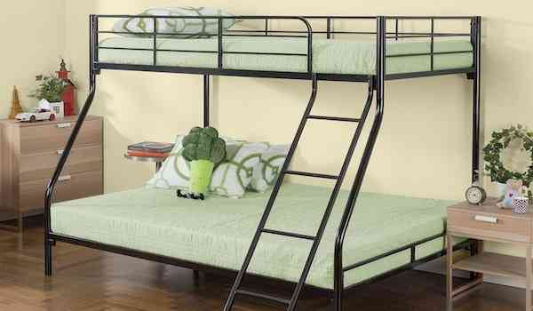 Zinus Hani Easy Assembly Quick Lock Metal Bunk Bed Twin over Full