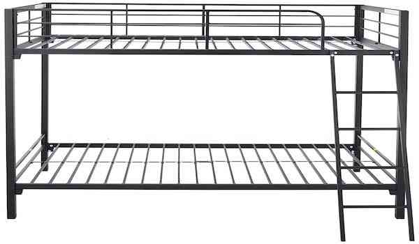 Zinus Patti Easy Assembly Quick Lock Twin over Twin Metal Bunk Bed