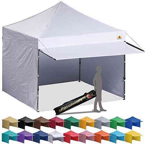 ABCCANOPY 10x10 Pop up Canopy Tent Instant Shelter Commercial Portable Market Canopy with Full Walls & Awnings