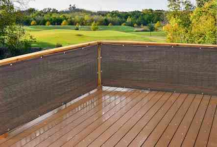 Alion Home Elegant Privacy Screen Fence Mesh Windscreen Backyard Deck Patio Balcony 3ft Height Brown:Mocha (3'x16')