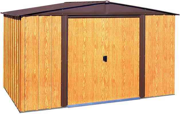 Arrow WL108 Woodlake 10-Feet by 8-Feet Steel Storage Shed