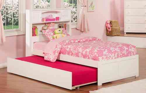 Atlantic Furniture Newport Platform Bed For Kids with Twin Size Trundle