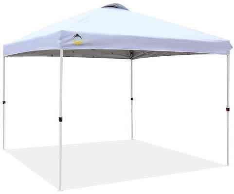 CROWN SHADES Patented 10ft x 10ft Outdoor Pop up Portable Shade Instant Folding Canopy with Carry Bag
