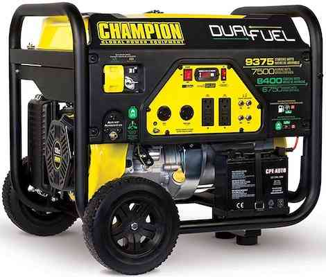Champion 7500-Watt Dual Fuel Portable Generator for home use