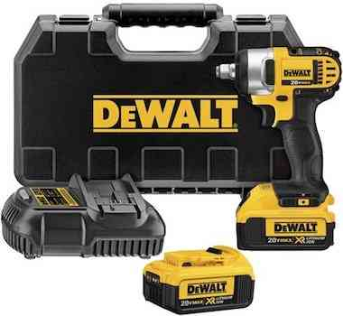 DEWALT DCF880HM2 20-volt MAX Lithium Ion 1:2-Inch Impact Wrench Kit with Hog Ring