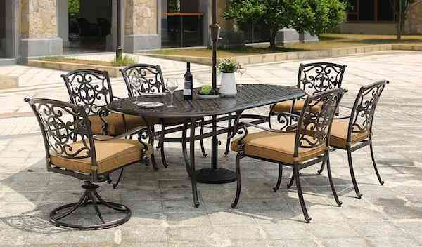 DOMI OUTDOOR LIVING dinning for 8