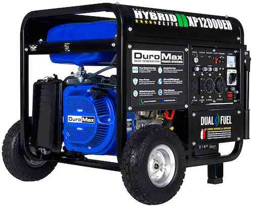 DuroMax 12,000 Max 9,500 Running Watts Dual Fuel Electric Start Portable Home Generator