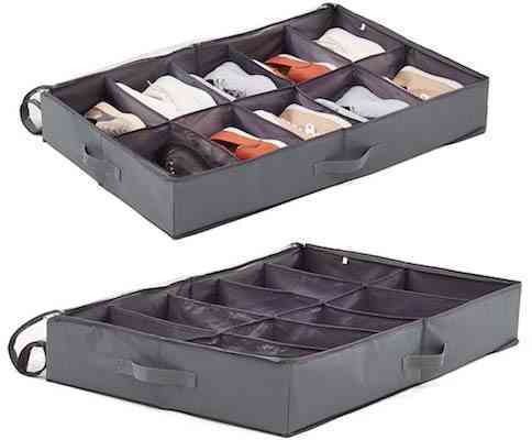 EZOWare 2 Pack Underbed Shoes Storage Bin
