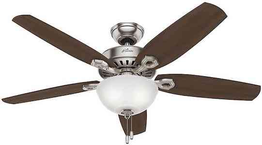 Hunter Fan Company 53090 BuilDLX Nickel Ceiling Fan