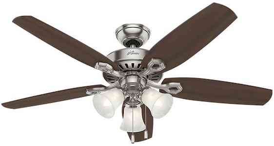 Hunter Fan Company 53237 Ceiling Fan, 52, Brushed Nickel:Brazilian Cherry