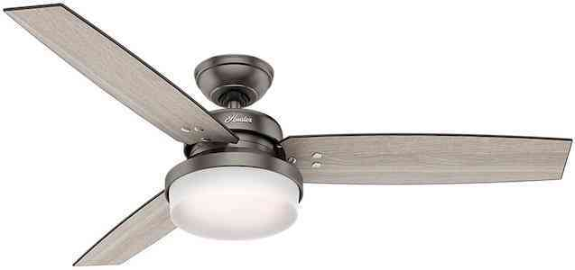 Hunter Sentinel Ceiling Fan with Light and Remote