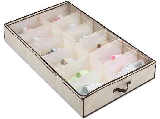Magicfly Under Bed Shoes Organizer Built-in Structure