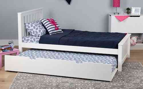Max & Lily Twin-Size Bed for kids with extra Trundle Bed