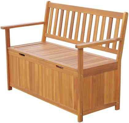 Outsunny 47 Wooden Outdoor Storage Bench