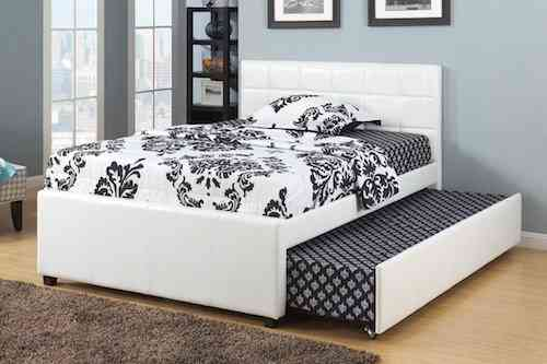 Poundex twin bed for kids with trundle