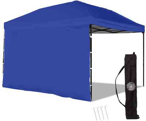 Punchau Pop Up Canopy Tent with Sidewall 10 x 10 Feet